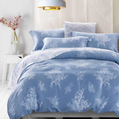 Ania Casa 天絲 TENCEL--加大鋪棉兩用被套床包四件組- 凝馨
