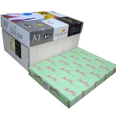PAPERLINE 130 / 80P / A3 蘋果綠  彩色影印紙  (500張/包)