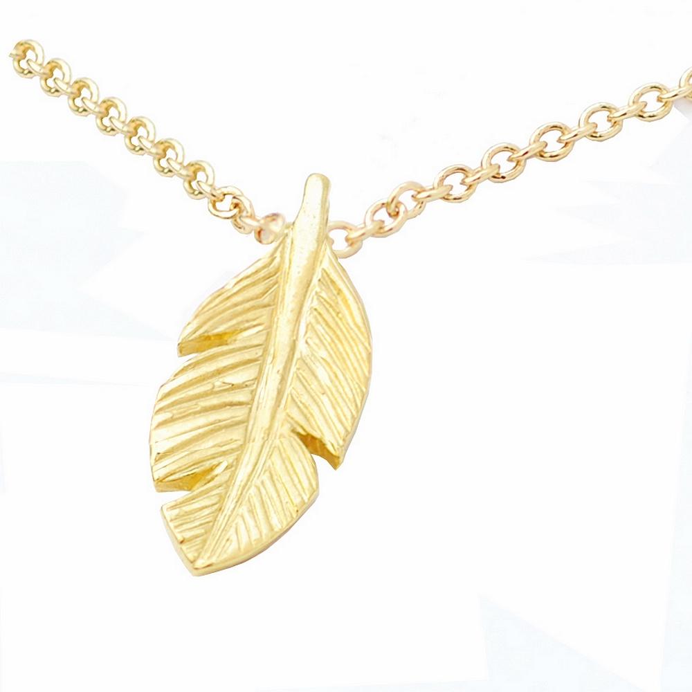 Dogeared美國品牌reminder金色項鍊-羽毛
