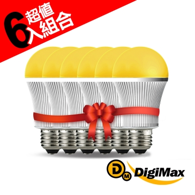 DigiMax  UP-18A5 LED驅蚊照明燈泡  6入組