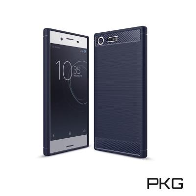 PKG  XZ Premium抗震防摔手機殼-碳纖維紋系列-經典藍