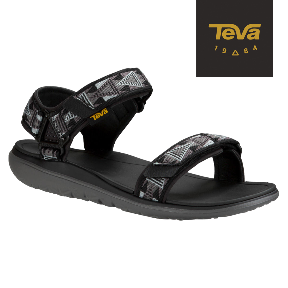 TEVA 美國-男 Terra Float 休閒涼鞋 (馬賽克黑)