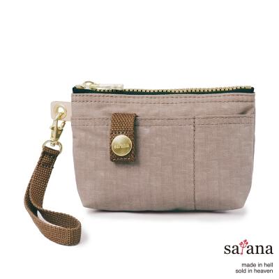 satana - 實用拉鍊化妝包/零錢包 - 松樹皮