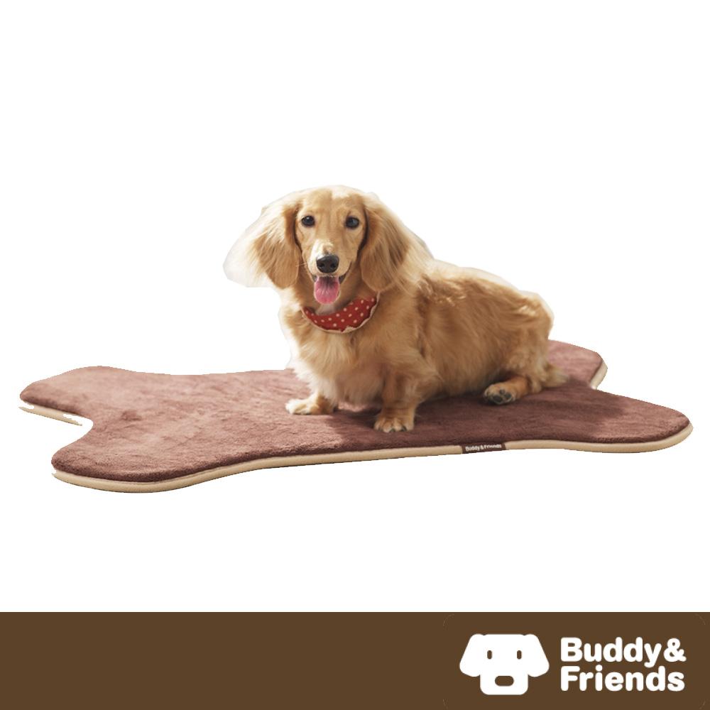 【Buddy&Friends】寵物骨頭造型墊 淺咖啡S (51x72cm)