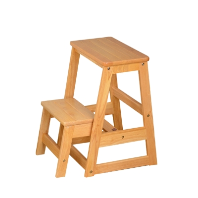 Bernice-可羅實木二層收合樓梯椅-40x37x55cm