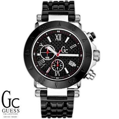 Gc 黑色尊爵計時運動腕錶