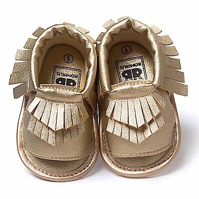Baby unicorn 金色流蘇露趾嬰兒涼鞋