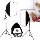 50+70CM新型兩用柔光無影罩個人攝影棚燈專用KTI全套組