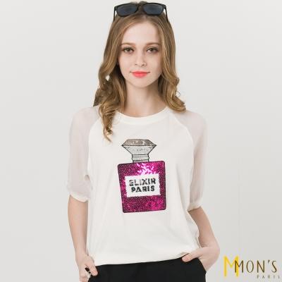 MONS 鏤空香水燙鑽造型上衣