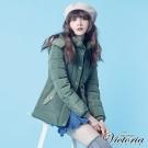 Victoria 花苞合身牛仔及膝裙-女-深藍