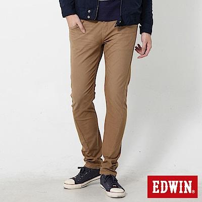 EDWIN 大尺碼迦績褲EF磨毛保溫直筒色褲-男-灰卡其