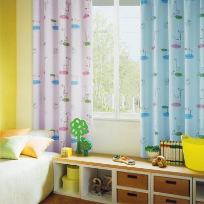布安於室-動物天堂遮光單層穿管式窗簾-半腰窗(寬240*高180cm)