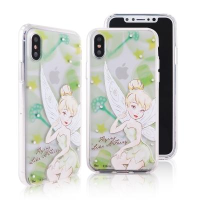 Disney迪士尼iPhone X施華洛世奇水鑽雙料保護殼_經典手繪小仙子