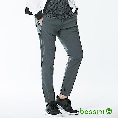 bossini男裝-彈性束口長褲02冷灰