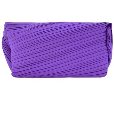 ISSEY MIYAKE 三宅一生 PLEATS PLEASE 尼龍褶紋化妝包(紫)