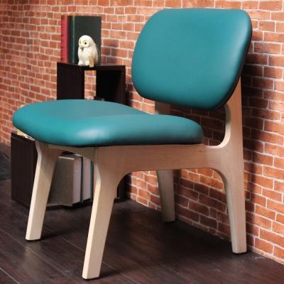 H&D JUDY 茱蒂簡約休閒椅/單人椅/皮椅-孔雀藍