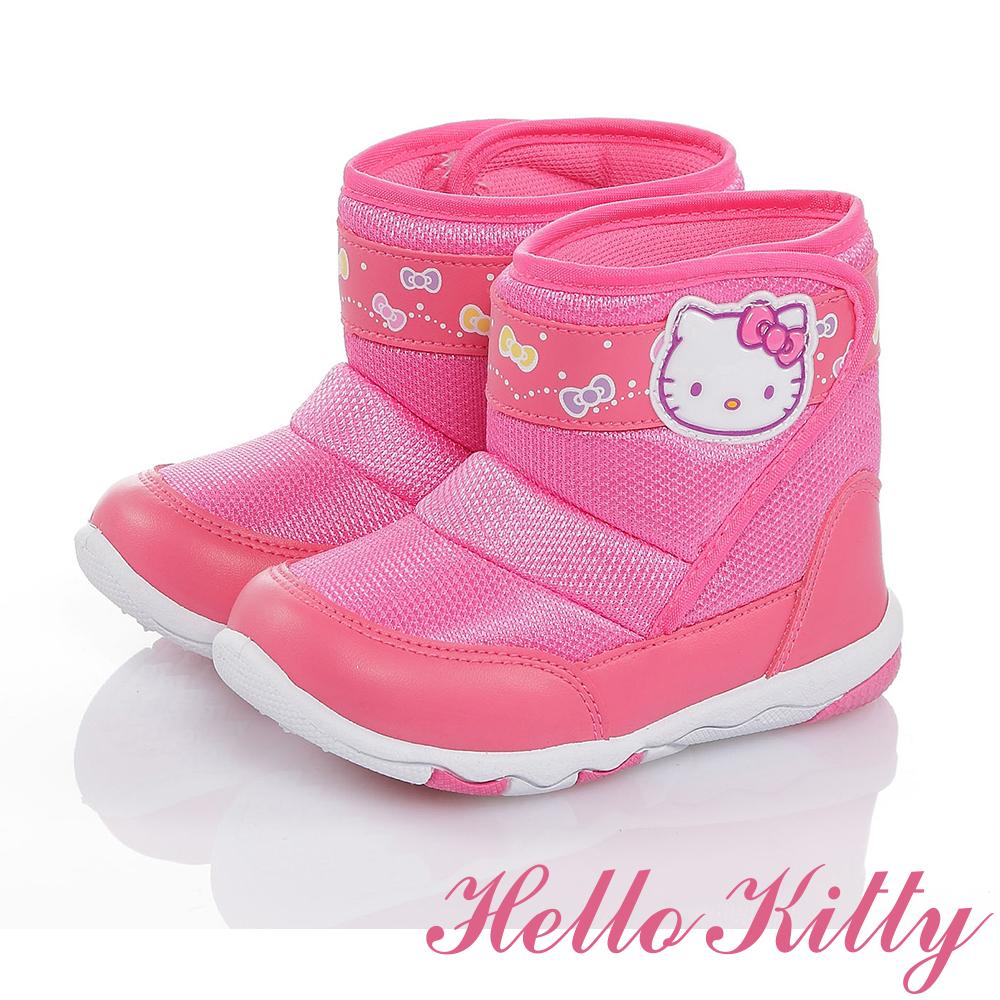 HelloKitty 輕量減壓抗菌防臭高筒靴童鞋-桃色