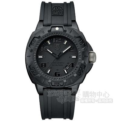 LUMINOX 海豹部隊前哨系列腕錶-IP黑x黑時標/43mm