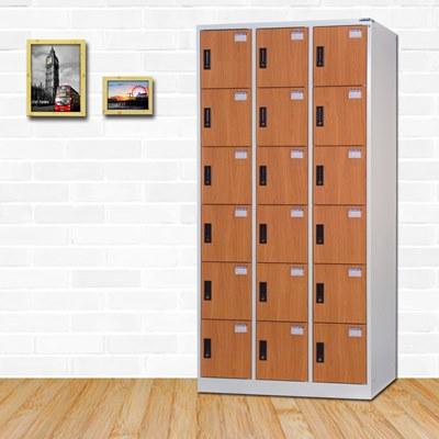 時尚屋 納爾生多用途塑鋼製18格置物櫃 寬90x深51x高180cm