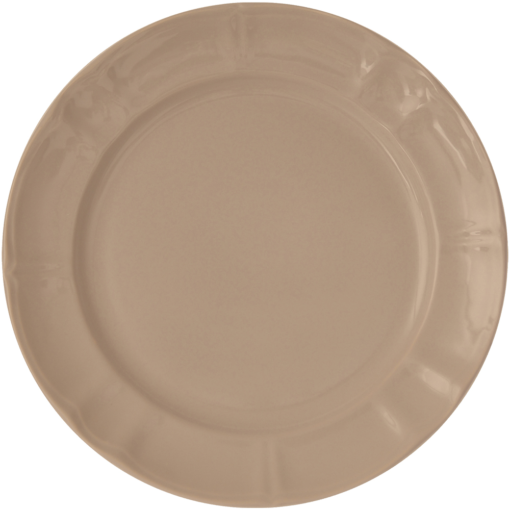 EXCELSA Chic陶製淺餐盤(淺棕27cm)