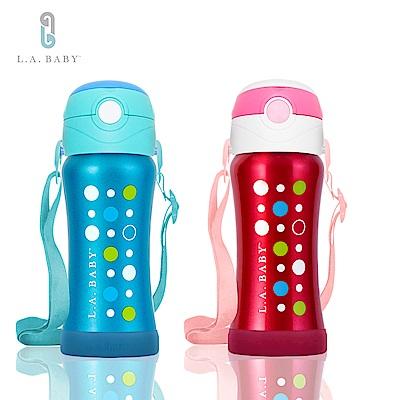(L.A. Baby)   316超輕量保溫保冷兒童水壺 270ml(極光藍.玫瑰紅)