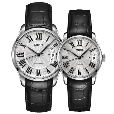 MIDO Belluna II雋永系列80小時皇家經典機械對錶-40+33mm-白