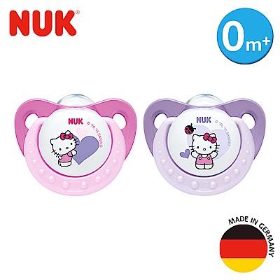 NUK-Hello Kitty安睡型矽膠安撫奶嘴-初生型0m+2入