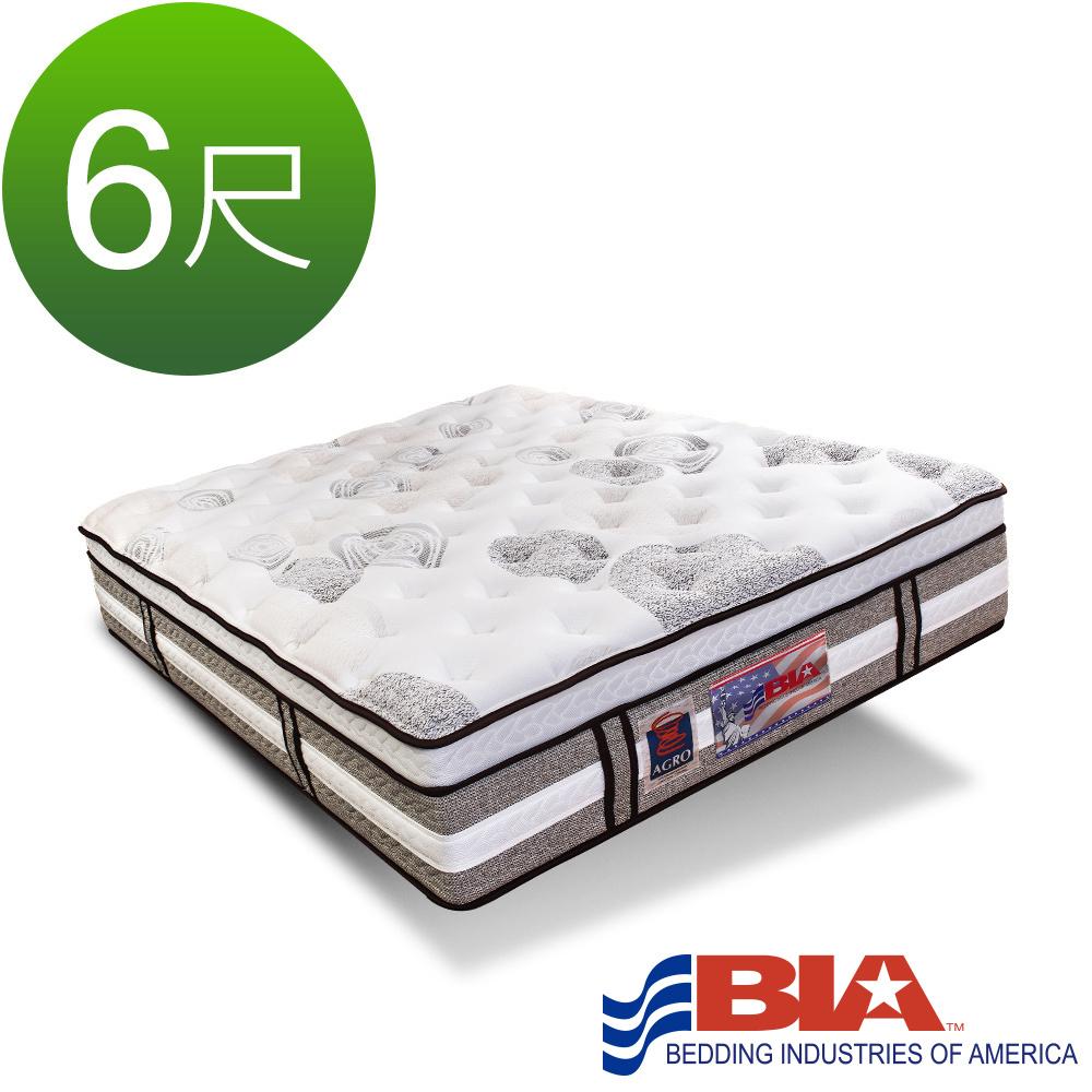 美國BIA名床-Los Angeles 獨立筒床墊-6尺加大雙人