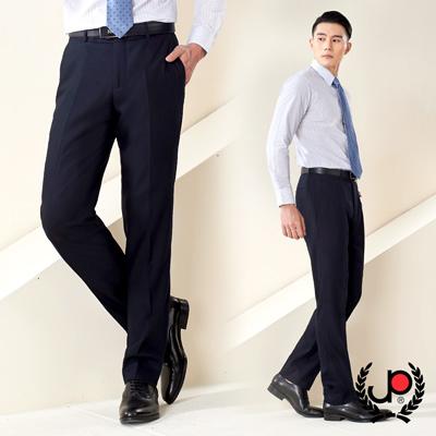 極品西服 品味紳士仿毛修身平面西裝褲_深藍(Z86BW012)