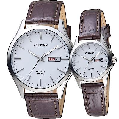CITIZEN 星辰 經典純粹愛戀對錶(BF2001-12A+EQ0591-21A)