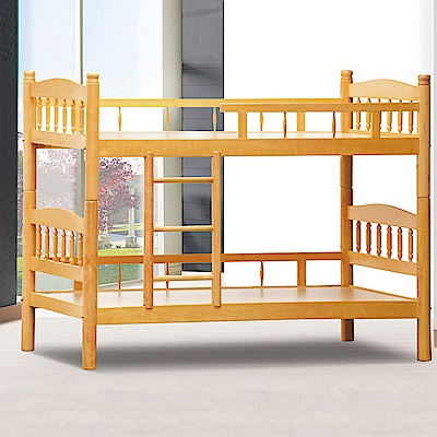 AS-福特3.5尺白楊木雙層床-113x201x156cm