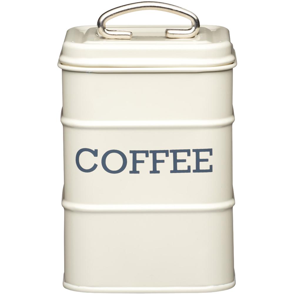KitchenCraft 復古咖啡收納罐(奶油黃)