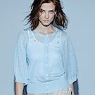 everysum+水藍透膚針織外套
