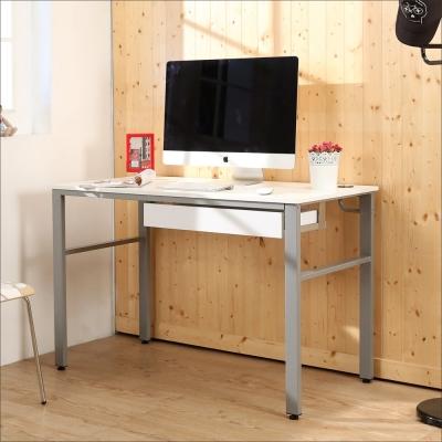 BuyJM 鏡面環保低甲醛120公分穩重型抽屜工作桌-DIY