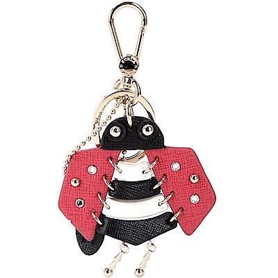 FURLA TWEET 瓢蟲造型皮革吊飾/鑰匙圈