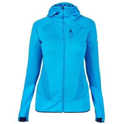 【Berghaus貝豪斯】女款POLARTEC銀離子保暖連帽外套H22F28-藍