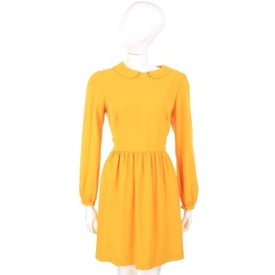 VALENTINO 復古領圈設計長袖洋裝(黃色)
