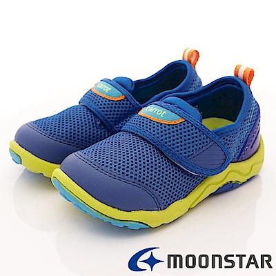 日本Carrot機能童鞋 2E速乾動物大底款 CTW2005 藍 (中小童段)