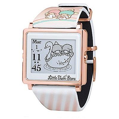 Smart Canvas 雙星仙子 電子紙腕錶 (玫瑰金框)