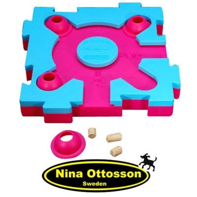瑞典Nina Ottosson 狗狗益智玩具 貓貓混很大拼拼樂(初階/粉藍+桃紅)