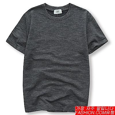 FASHION館 韓系oversize麻花螺紋短T 素T 孔劉 GD