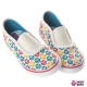 英國 POCONIDO 時尚貓頭鷹無鞋帶彈性帆布鞋 product thumbnail 1