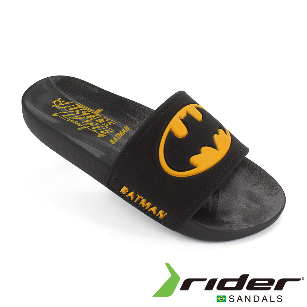 RIDER 巴西-童 正義聯盟 運動拖鞋 黑色/黃色