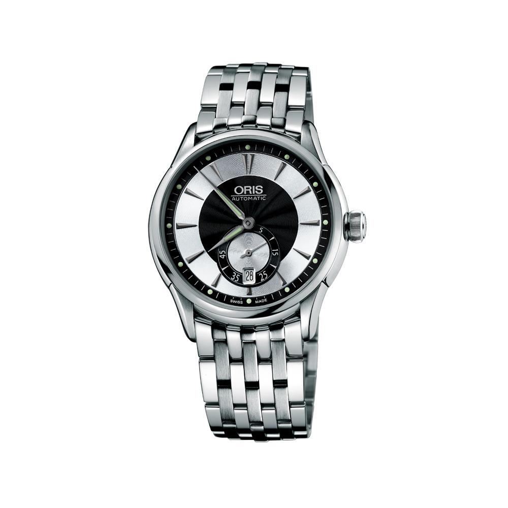 ORIS Artelier 小秒針經典機械錶-黑/40 mm
