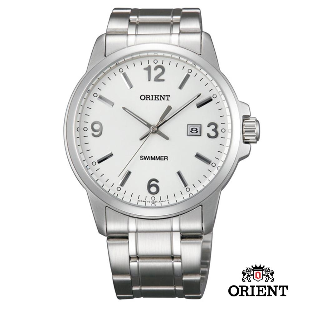 ORIENT 東方錶 OLD SCHOOL系列 復古風石英錶 鋼帶款 白色-41.0mm