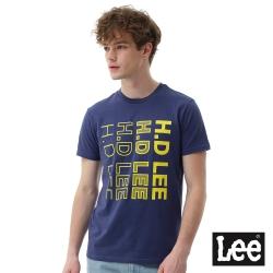 Lee HD LEE漸層短袖圓領TEE/SMU-男款-藍色
