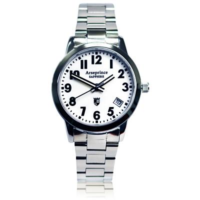 Arseprince 經典指針個性時尚男錶-白色/40mm