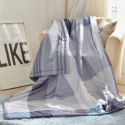 義大利La Belle 英式風格 純棉吸濕透氣涼被(5x6.5尺)