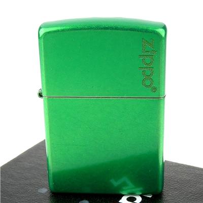 ZIPPO美系~LOGO字樣打火機-Meadow-牧草綠色烤漆