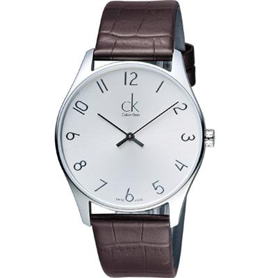 Calvin Klein Classic 簡約經典時尚腕錶(K4D211G6)咖啡
